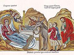 Hortus Deliciarum Die Geburt Christi-180